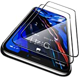 CASEKOO iPhone 11 / iPhone XR 用 ガラスフィルム ガイド枠付き 2枚セット 日本旭硝子製 全面保護フィルム 強化ガラス 透過率99.9% 気泡ゼロ 飛散防止( アイフォン11/アイホンXR 用 フィルム 6.1インチ )
