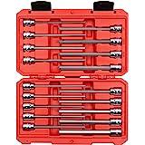 TEKTON 3/8 Inch Drive Long Hex Bit Socket Set, 18-Piece (1/8-3/8 in, 3-10 mm)   SHB91303