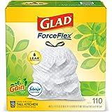 Glad ForceFlex Tall Kitchen Drawstring Trash Bags – 13 Gallon White Trash Bag, Gain Original scent with Febreze Freshness – 1