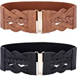 GRACE KARIN Women Vintage Elastic Stretchy Retro Wide Waist Cinch Belt CL706