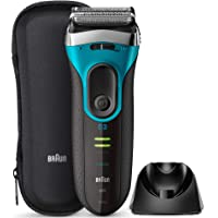 ブラウン メンズ電気シェーバー シリーズ3 Proskin 3枚刃 水洗い/お風呂剃り可 ブルー 3080s-B