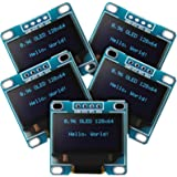 Frienda 5 Pieces 0.96 Inch OLED Module 12864 128x64 SSD1306 Driver IIC I2C Serial Self-Luminous Display Board Compatible with