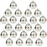 "Bright Reflective Mirror Disco Balls   24 Pack 2"" Christmas Balls Ornaments Xmas Tree Hanging Balls Pendants for Holiday Wedd"