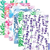 Rancco Discbound Tab Dividers, Junior-Sized, 2 Set 12 Pc Frosted Floral PVC Discbound Notebook Binder Index Dividers for Plan
