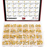DYWISHKEY 24Value 720PCS DIP Monolithic Multilayer Ceramic Chip Capacitors Assortment Kit, 0.1uF-100nF Ceramic Capacitor Set