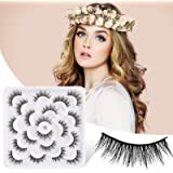 False Eyelashes 15mm,Fake Eye Lashes 3D Fluffy Nature Eyelashes Handmade Thick Reusable Wispies Natural Strip Lashes 10 Pairs