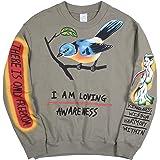 THE SCOTTS Men Crewneck Sweatshirt Kanye I Am Loving Awareness Sweatshirt Vintage Graphic Hip Hop Sweatshirt Hoodie