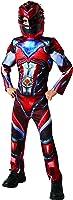 Red Ranger Deluxe Muscle Saban's Power Rangers Movie Superhero Boys Costume
