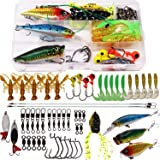 SUPERTHEO Fishing Lure Set Fishing Spoons Frog Lures Soft Hard Metal Lure Rattle Crank Popper Minnow Pencil Jig Hook for Trou