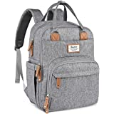 Diaper Bag Backpack, RUVALINO Large Multifunction Travel Back Pack Maternity Baby Nappy Changing Bags, Large Capacity, Waterp
