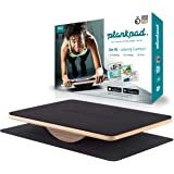 Plankpad - iOSおよびAndroid用トレーニングアプリ搭載バランスボード兼体重フィットネストレーナー - メープルウッドとウォルナット材を使用した、インタラクティブな腹筋プランクトレーナー - ドイツ版シャークタンクでもおなじみ