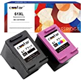 CSSTAR HP 61 XL 「ブラック+3色カラー」 2個セット リサイクル インクカートリッジ 増量タイプ 対応機種:HP ENVY 5530/ ENVY 4500/ ENVY 4504/ Officejet 4630 「残量表示機能付」