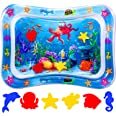 ProAussie Tummy Time Baby Water Mat, Premium Inflatable Baby Play Mat Activity Centre for Infants Baby Toys 3 6 9 12 Months,