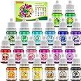 20 Color Bath Bomb Soap Dye - Liquid Food Grade Soap Coloring for DIY Soap Making, Slime Supplies, Handmade Bath Bombs - Vibr