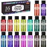 Color Change Acrylic Paint Set, Shuttle Art 16 Colors Chameleon Colors Acrylic Paint in Bottles (60ml/2oz), Non-Toxic for Art