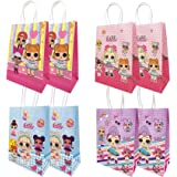 MJMEISIYU 16 Packs LOL Party Gift Bags, LOL Gift Bags Party Supplies for Kids LOL Themed Party, Birthday Decoration Gift Bags