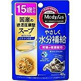 メディファス キャットフード スープ15歳から しらす・かつお節入り 40グラム (x 12) (まとめ買い)