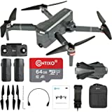 Contixo Quadcopter GPS Foldable 4K HD Camera Drones - 60 Minutes Longest Flight Time - Brushless Motors Drone with Camera for