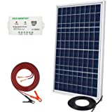 ECO-WORTHY 20W 30W Portable Waterproof PV Polycrystalline Solar Panel System kit with Charge Controller 30A Battery Clips Ada
