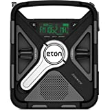 Eton Ultimate Camping AM/FM/NOAA Radio with S.A.M.E Technology, Smartphone Charging, Bluetooth, Giant Ambient Light and Solar