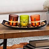 DARJEN Decorative Candle Holders Set for Home Decor & Bathroom Decorations - Table Centerpieces Candle Holder for Coffee Tabl