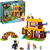 LEGO Disney Aurora's Forest Cottage 43188, Sleeping Beauty Building Kit for Kids; A Fun Holiday Present or Birthday Gift for