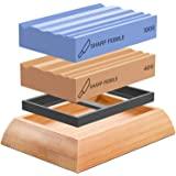 Sharp Pebble Whetstones Wood Carvers Sharpener-Dual Grit Sharpening Stones Grit 400 & 1000- Waterstone Sharpener for Woodwork