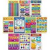 Educational Preschool Learning Poster for Toddler, Pre-K, Kindergarten, Daycares, Classroom, Homeschool Teachers - Incl Alpha
