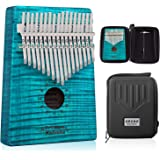 GECKO Kalimba 17 Key Thumb Piano with Hardshell Case Study Instruction Song Book Tuning Hammer for Beginners C Tone Tuned (Bl