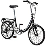Schwinn Loop Adult Folding Bicycle, 20-Inch Wheels, 7-Speed