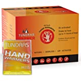 Tundras Hot Hand Warmers 11 Hours Long Lasting - 40 Count - Natural Odorless Safe Single Use Air Activated Heat Packs for Han