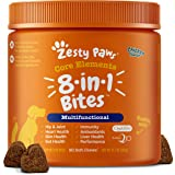 Zesty Paws Multivitamin Treats for Dogs - Glucosamine Chondroitin for Joint Support + Digestive Enzymes & Probiotics - Grain