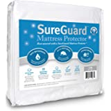 SureGuard Mattress Protectors Crib Size - 100% Waterproof, Hypoallergenic - Premium Fitted Cotton Terry Cover - 10 Year Warra