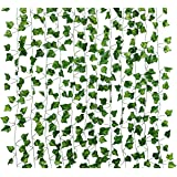 Dedoot Ivy Garland, 12 Pack (79 Inch Each) Green Fake Ivy Garland Vine Hanging Artificial Ivy Leaves for Craft Wedding Party
