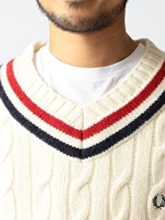 Fred Perry x Beams Wool Cotton Cricket Sweater 11-15-0566-060: Off White