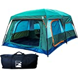 10 Person Camping Tent | Insulated Family Cabin Shelter with Waterproof Fabric, Mesh and Room Divider