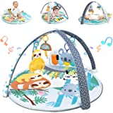 WYSWYG Baby Play Mat Piano Gym 3-in-1 Infant Playmat with Music and Sounds - Baby Activity Playmats for Newborn - Jungle Them