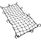 "Powertye 15""x30"" Mfg Large Cargo Net Featuring 10 Adjustable Hooks & Tight 2""x2"" Mesh, Black"