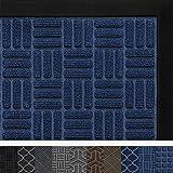 Door Mat for Indoor Outdoor, Durable Rubber Heavy Duty Doormat, 23x35, Waterproof, Easy Clean, Low-Profile, Commercial Floor