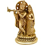 ITOS365 Radha Krishna Brass Statue Hindu God Sculpture Relig