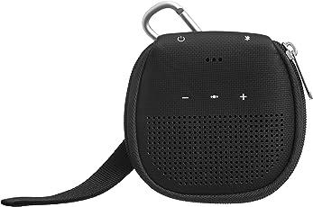 Amazonベーシック Bose SoundLink Micro Bluetooth Speaker用キックスタンド付きケース ブラック