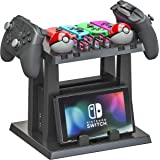 Skywin Organizer and Stand for Nintendo Switch - Storage Stand and Organizer Compatible with Nintendo Switch Accessories - Or