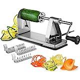 Mitbak Stainless Steel Vegetable Spiralizer Slicer | Industrial-Grade 3-Blade Zoodle Maker | Restaurant-Quality Spiral Slicer