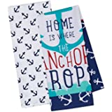 DII Cotton Summer Printed Dish Towels, 18x28 Set of 2, Decorative Oversized Kitchen Towels, Perfect for Every Day Home Kitche