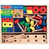 Melissa & Doug 5151 Wooden Construction Building Set in a Box (48 pcs)