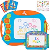 CHUCHIK Magnetic Drawing Board Set for Kids and Toddlers. Large 15.7 Inch Magna Doodle Writing Pad Comes with a 4-Color Trave