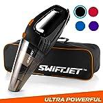 "SwiftJet Car Vacuum Cleaner - High Powered 4 KPA Suction Handheld Automotive Vacuum - 12V DC 120 Watt - 14.5"" Cord..."