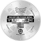Freud LU77M012 12-Inch 96 Tooth TCG Thin Kerf Non-Ferrous Metal Cutting Saw Blade with 1-Inch Arbor