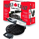 Canadian Maple Leaf Shaped Belgian Waffle Maker | High Quality Non-stick Waffle Iron | Works Perfectly for Chaffles, Gluten F