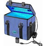 coospider ポータブル紫外線バッグ 青い USB充電 5/10/30分3段階タイミング 28X19.5X22cm 5v